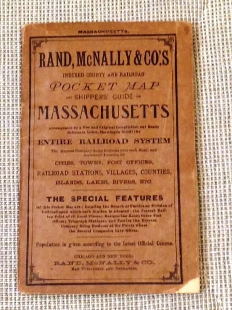 Rand McNally & Co.'s Indexed County and Railroad Pocket Map Shippers' Guide to Massachusetts. Rand McNally.