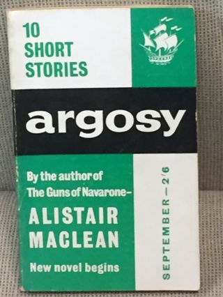 Argosy, September 1961. Alistair MacLean, Joan Aiken, Others
