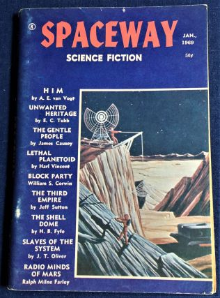 Spaceway Science Fiction January 1969. E. C. Tubb A E. Van Vogt, others, Ralph Milne Farley