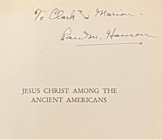 Jesus Christ among the Ancient Americans