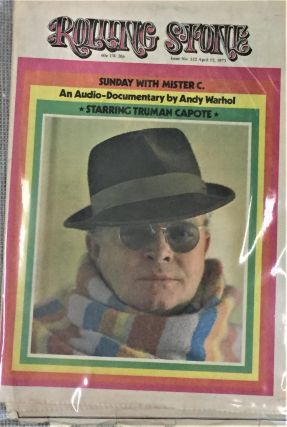 Rolling Stone, April 12, 1973. Truman Capote Andy Warhol, Others